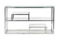 Консоль прозрачное стекло/хром GY-CST8005