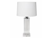 Лампа настольная стеклянная 22-87529 светло-серый абажур