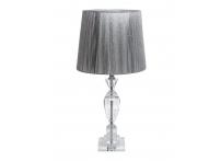 Лампа настольная хрустальная X181617 серебряный плафон
