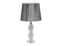Лампа настольная стеклянная X381207 серебряный абажур