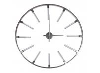 Часы настенные круглые серебристые 91см 19-ОА-6157SL