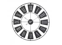 Часы настенные металлические черные HZ1003320