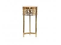 Журнальный стол круглый золотой 13RXFS5080L-GOLD