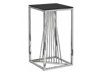 Столик журнальный 13RXET8082L-SILVER черное стекло / серебро