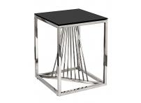 Столик журнальный 13RXET8083M-SILVER черное стекло / серебро