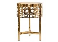 Журнальный стол круглый золотой 13RXFS5080M-GOLD
