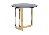 Столик журнальный золотой с темным стеклом 47ED-ET062GOLD