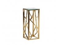 Столик журнальный высокий со стеклом 47ED-FS015GOLD