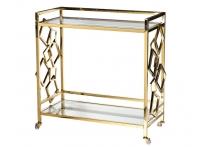 Стол-тележка сервировочная GY-CRT8164GOLD прозрачное стекло / золото
