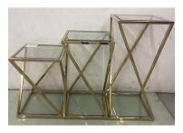 Набор из 3х журнальных столов (золото) GY-ST001GOLD