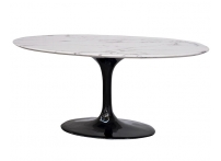Стол обеденный овальный белый 33FS-DT3056-BLWH