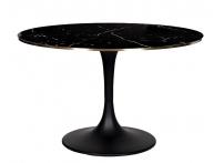 Стол обеденный с мраморным стеклом 46AS-DT5042-BL
