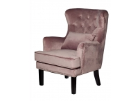 Кресло велюровое 24YJ-7004-06418/1 дымчато-розовое