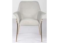 Кресло велюровое светло-серое на металлических ножках 30C-1127-Z GRE