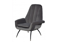 Кресло велюровое 46AS-AR3092 серо-голубое