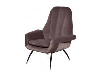 Кресло велюровое 46AS-AR3092 серо-розовое