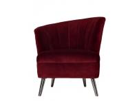 Кресло велюровое 48MY-2553-L бордовое