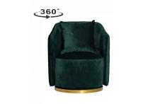 Кресло вращающееся 48MY-2573 темно-зеленое