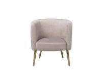 Кресло велюровое жемчужно-серое на металлических ножках 48MY-2533 PEG GLD