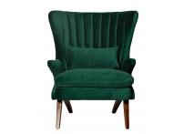 Кресло велюровое DY-733 зеленое