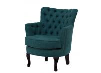 Кресло велюровое PJC741-PJ618 темно-бирюзовое