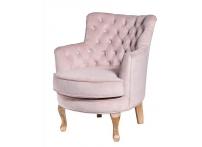 Кресло велюровое PJC741-PJ621 розовое