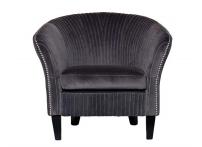 Кресло велюровое PJS30801-PJ636 серое