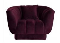 Кресло с подушкой ZW-81101 темно-фиолетовое