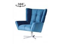 Кресло вращающее ZW-868 синее