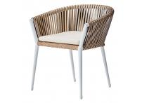 """Кресло уличное """"МУЗА"""" Белое с оплеткой 39AR-C288-1"""