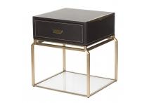 Тумбочка прикроватная 76AR-NS642 коричневая / матовое золото