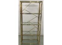 Стеллаж с прозрачным стеклом (золотой) GY-SH8711GOLD