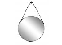Зеркало круглое на кожаном подвесе (хром) 79MAL-9190-116NI