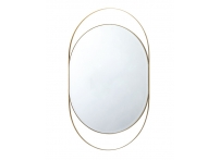 Зеркало в металлической раме (золото) KFG097