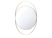 Зеркало в металлической раме (золото) KFG098