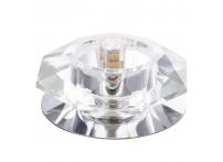 Встраиваемый хрустальный потолочный светильник под лампу G-9 Y008-1 серебро
