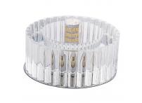 Встраиваемый хрустальный потолочный светильник под лампу G-9 Y0125-1 серебро