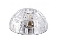 Встраиваемый хрустальный потолочный светильник под лампу G-9 Y019-1 серебро