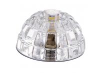 Встраиваемый хрустальный потолочный светильник под лампу G-9 Y019S-1 серебро
