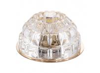 Встраиваемый хрустальный потолочный светильник под лампу G-9 Y019S-4 золото