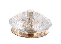 Встраиваемый хрустальный потолочный светильник под лампу G-9 Y025-4 золото