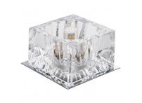 Встраиваемый хрустальный потолочный светильник под лампу G-9 Y032-1 серебро