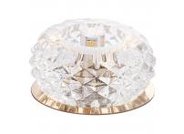 Встраиваемый хрустальный потолочный светильник под лампу G-9 Y066-4 золото