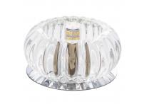 Встраиваемый хрустальный потолочный светильник под лампу G-9 Y067S-1 серебро