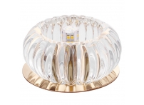 Встраиваемый хрустальный потолочный светильник под лампу G-9 Y067S-4 золото