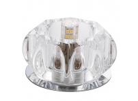 Встраиваемый хрустальный потолочный светильник под лампу G-9 Y070-1 серебро