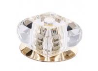 Встраиваемый хрустальный потолочный светильник под лампу G-9 Y087-4 золото