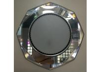Встраиваемый хрустальный потолочный светильник под лампу GX-53 с LED подсветкой GX002L-1 прозрачный
