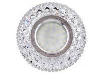 Встраиваемый акриловый потолочный светильник под лампу MR-16 с LED подсветкой K1651L-1 прозрачный