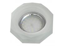 Встраиваемый хрустальный потолочный светильник под лампу MR-16 с LED подсветкой S4001L-M1 матовый